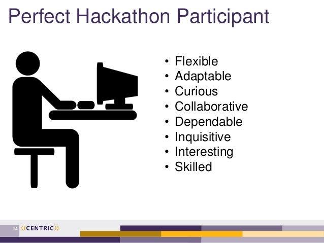 Perfect Hackathon Participant 14 • Flexible • Adaptable • Curious • Collaborative • Dependable • Inquisitive • Interesting...