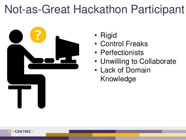 Not-as-Great Hackathon Participant 15 • Rigid • Control Freaks • Perfectionists • Unwilling to Collaborate • Lack of Domai...