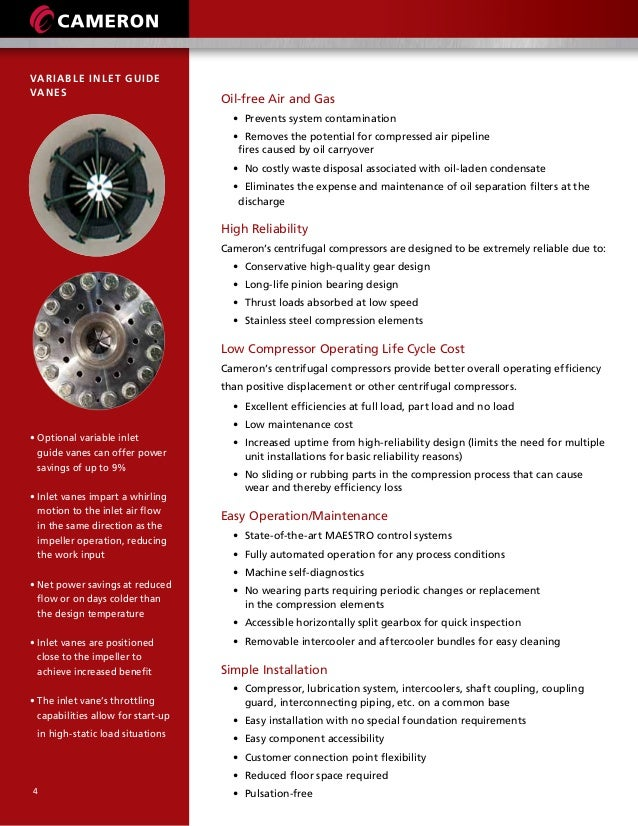 Centrifugal compressors-brochure