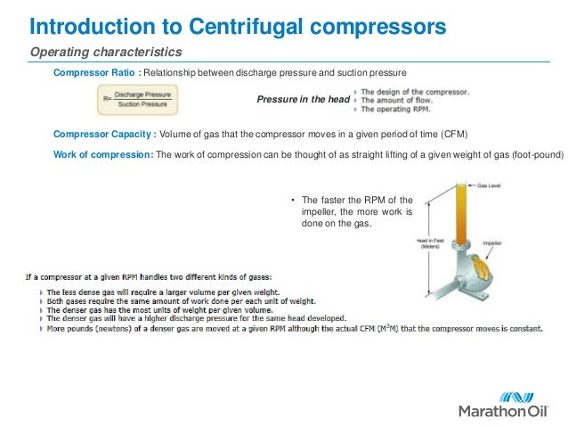 Introduction to Centrifugal compressors Operating characteristics Compressor Ratio : Relationship between discharge pressu...