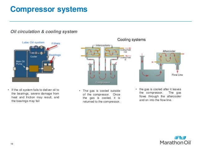 Compressor systems Oil circulation & cooling system 19 • If the oil system fails to deliver oil to the bearings, severe da...