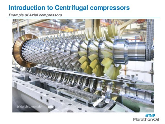 Introduction to Centrifugal compressors Example of Axial compressors
