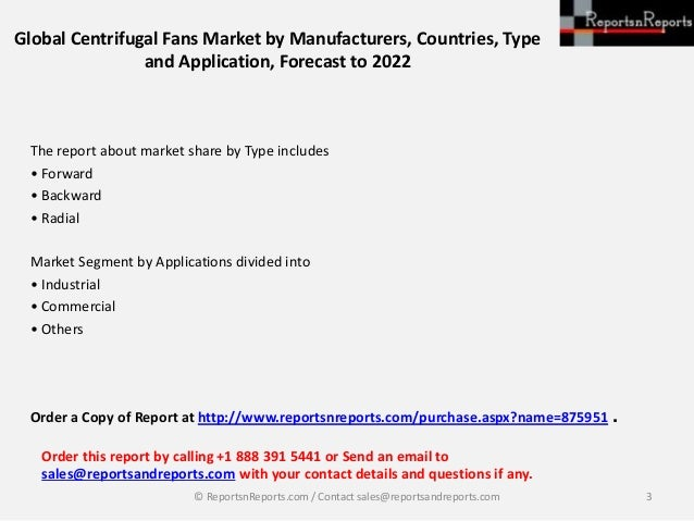 Global Centrifugal Fans Market Analysis by Manufacturers