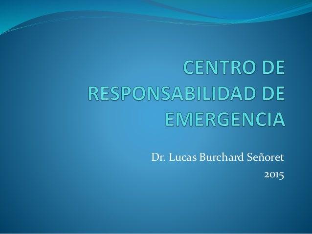 Dr. Lucas Burchard Señoret 2015