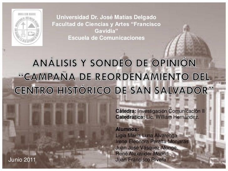 """Universidad Dr. José Matías Delgado             Facultad de Ciencias y Artes """"Francisco                            Gavidia..."""