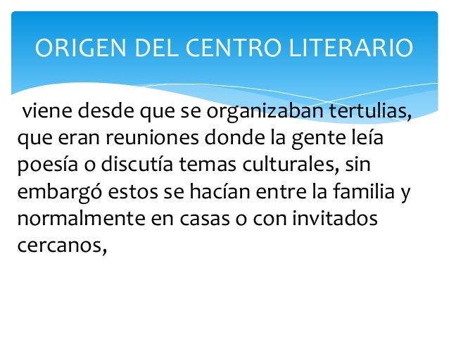 Resultado de imagen para centro literario