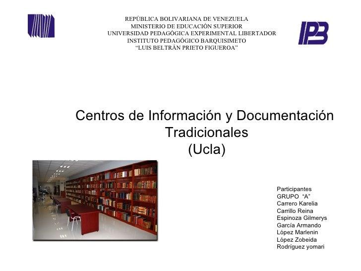 REPÚBLICA BOLIVARIANA DE VENEZUELA           MINISTERIO DE EDUCACIÓN SUPERIOR    UNIVERSIDAD PEDAGÓGICA EXPERIMENTAL LIBER...