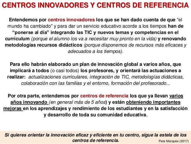 ¿Qué hacen los centros innovadores? (informe-5, julio 2018) Slide 3