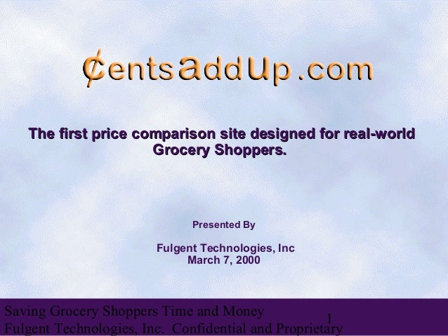 The first price comparison site designed for real-world                     Grocery Shoppers.                             ...