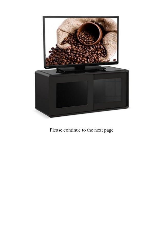 Centurion Supports Nora Gloss Black with Gloss Black Beam-Thru Glass Sliding Doors Remote Friendly 26-52 LEDOLED  LCD TV Cabinet  Slide 2