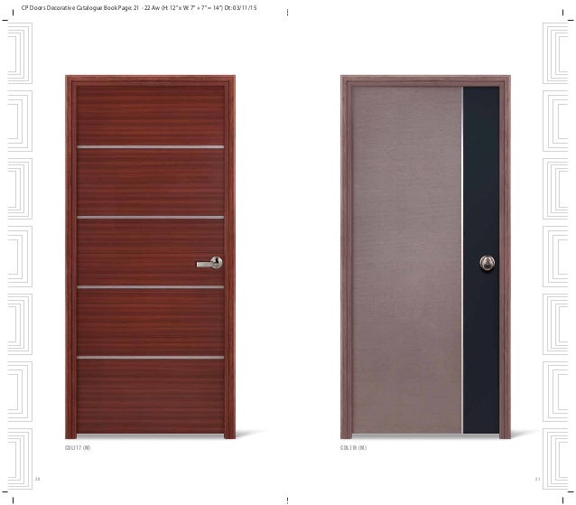 ... 12. CP Doors Decorative Catalogue Book Page ...  sc 1 st  SlideShare & Fashionable and elegant decorative doors for your home