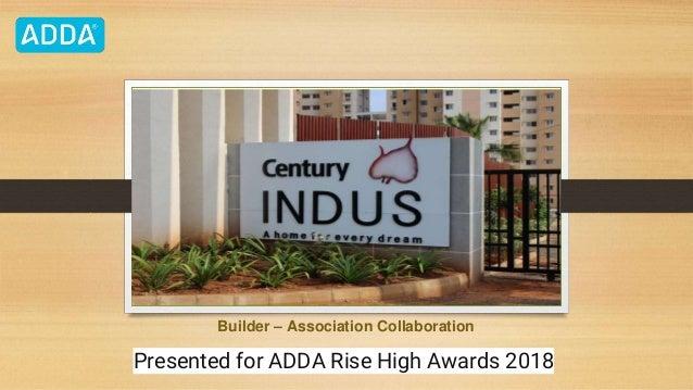 Builder – Association Collaboration Presented for ADDA Rise High Awards 2018