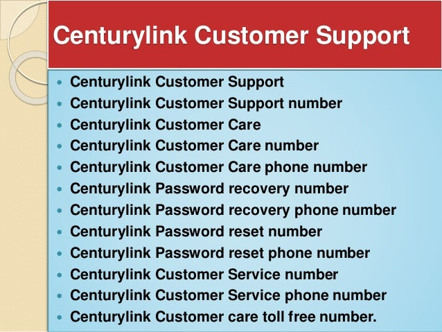 century link customer support