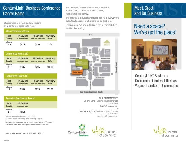 The Las Vegas Chamber of Commerce is located at Town Square, on Las Vegas Boulevard South, north of the I-215 Beltway. The...