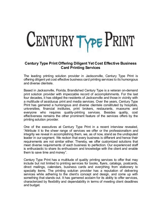 Century type print offering diligent yet cost effective business card century type print offering diligent yet cost effective business card printing services the leading printing solution reheart Choice Image