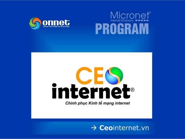 LỢI ÍCH MANG LẠI • Được đào tạo để trở thành 1 CEO Internet chuyên nghiệp • Được sở hữu những tên miền đẹp nhất. • Được tư...