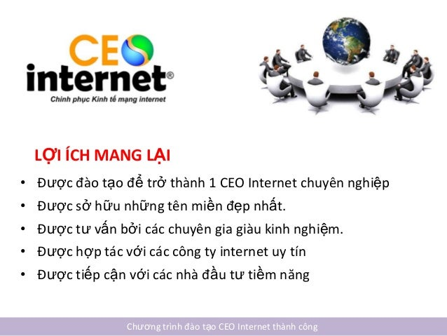 ĐÀO TẠO CEO INTERNET THÀNH CÔNG Slide 2