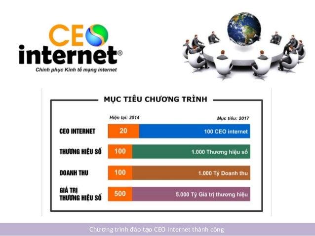 ĐÀO TẠO CEO INTERNET THÀNH CÔNG Slide 3