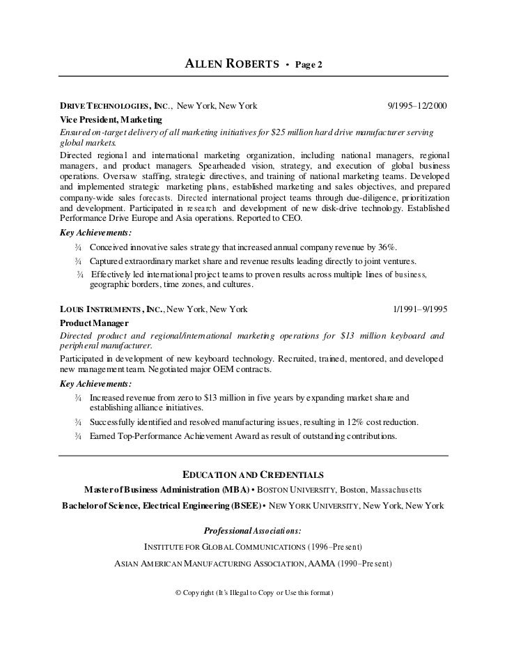 Ceo Resume Examples Sample Ceo Resumes Sample Resume And Free