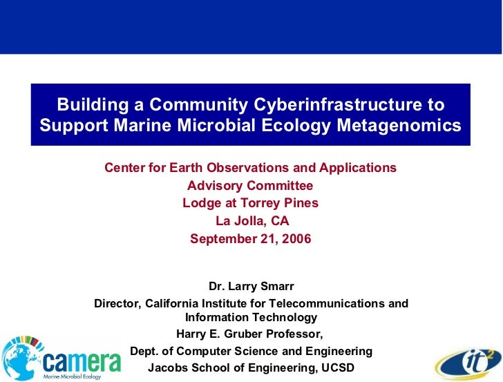 Building a Community Cyberinfrastructure to Support Marine Microbial Ecology Metagenomics Center for Earth Observations an...