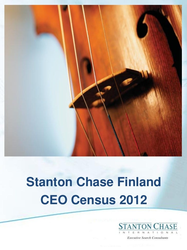 Stanton Chase Finland  CEO Census 2012
