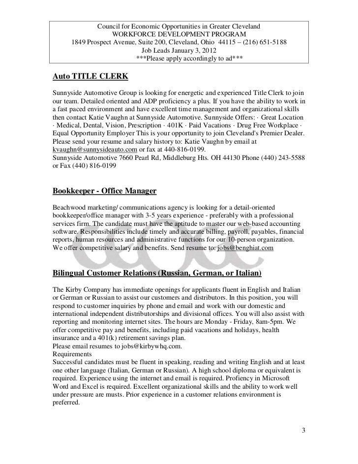 title clerk sample resume professional auto title clerk templates