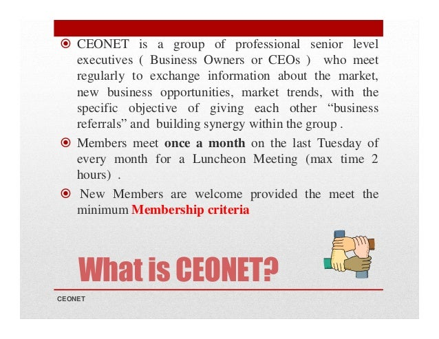 CEONET Introduction & Overview Slide 2