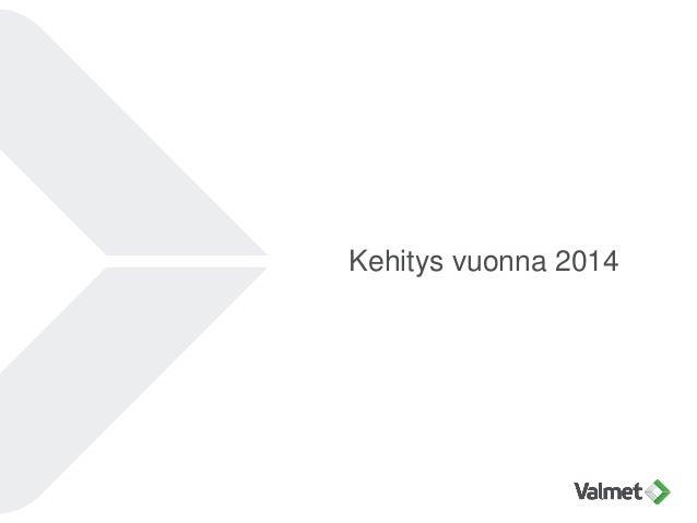 Kehitys vuonna 2014