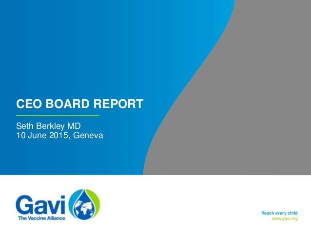 Gavi  Ceo Board Report  June