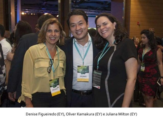 Denise Figueiredo (EY), Oliver Kamakura (EY) e Juliana Milton (EY)