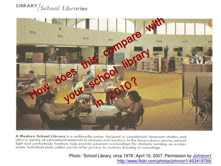 Photo: 'School Library, circa 1978', April 10, 2007. Permission by Johnjron1                            http://www.flickr....