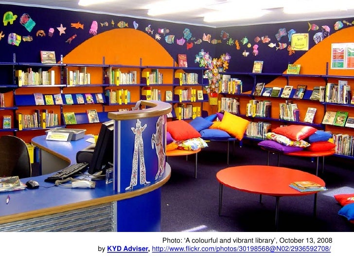 Photo: 'A colourful and vibrant library', October 13, 2008 by KYD Adviser, http://www.flickr.com/photos/30198568@N02/29365...