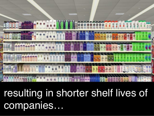 resulting in shorter shelf lives of companies…!