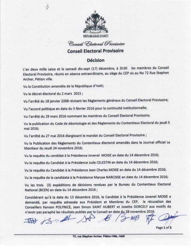 Le CEP rejette les demandes de récusations au BCEN contre les conseillers électoraux