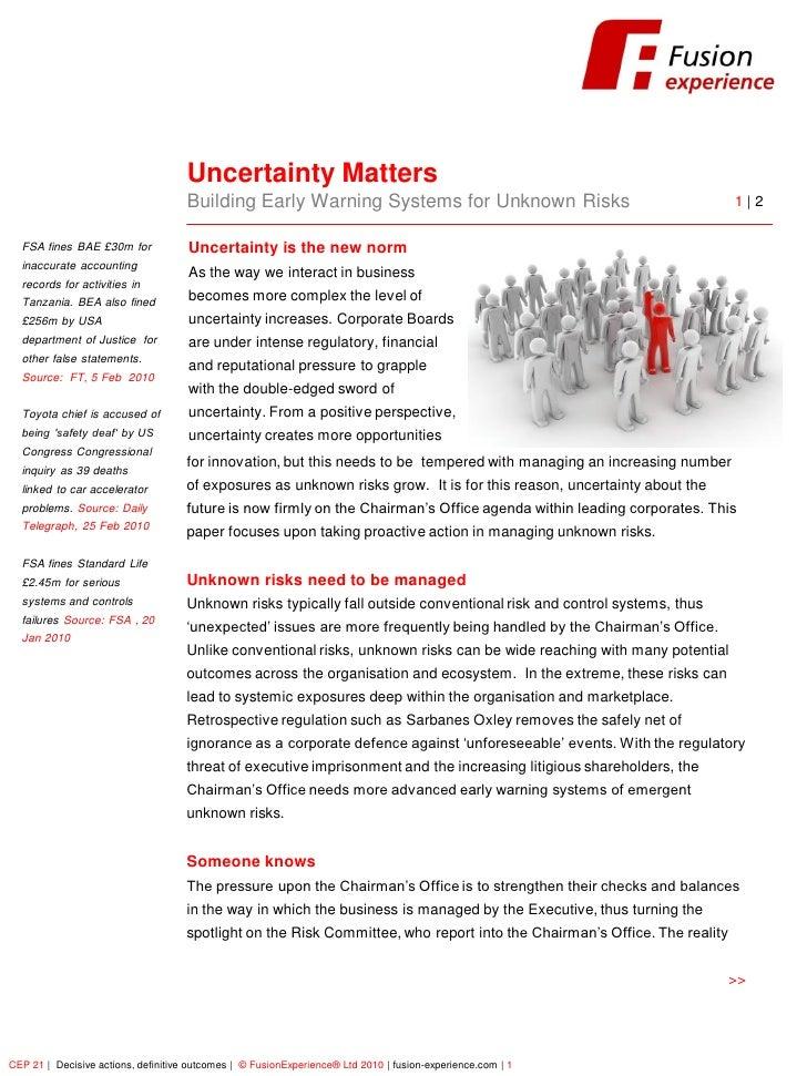FusionExperience                                          Uncertainty Matters                                      Buildin...