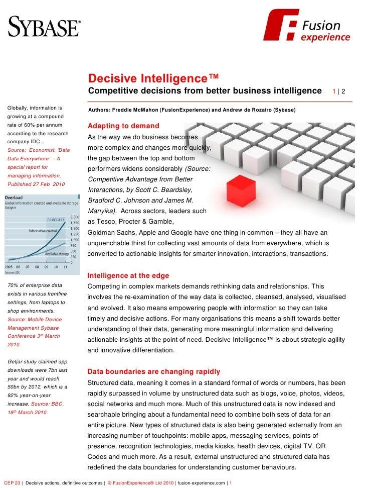 FusionExperience                                           Decisive Intelligence™                                       Co...