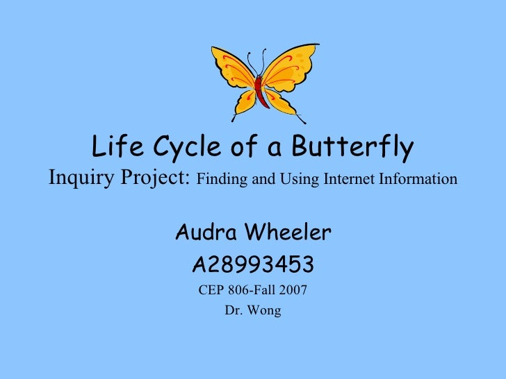 Life Cycle of a Butterfly Inquiry Project:  Finding and Using Internet Information Audra Wheeler A28993453 CEP 806-Fall 20...