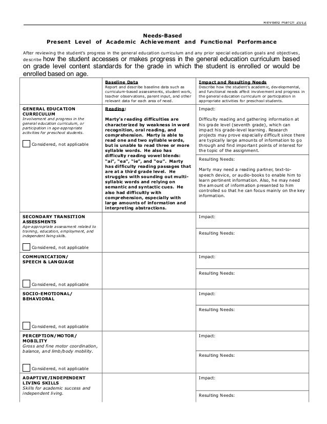Sample Teen Progress Report          TDHP png