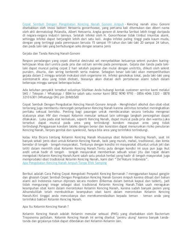 Cepat Sembuh Dengan Pengobatan Kencing Nanah Gonore Ampuh - Kencing nanah atau Gonore disebabkan oleh invasi bakteri Neiss...