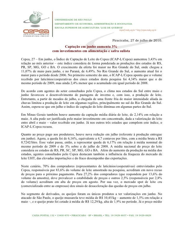 UNIVERSIDADE DE SÃO PAULO                          DEPARTAMENTO DE ECONOMIA, ADMINISTRAÇÃO E SOCIOLOGIA                   ...