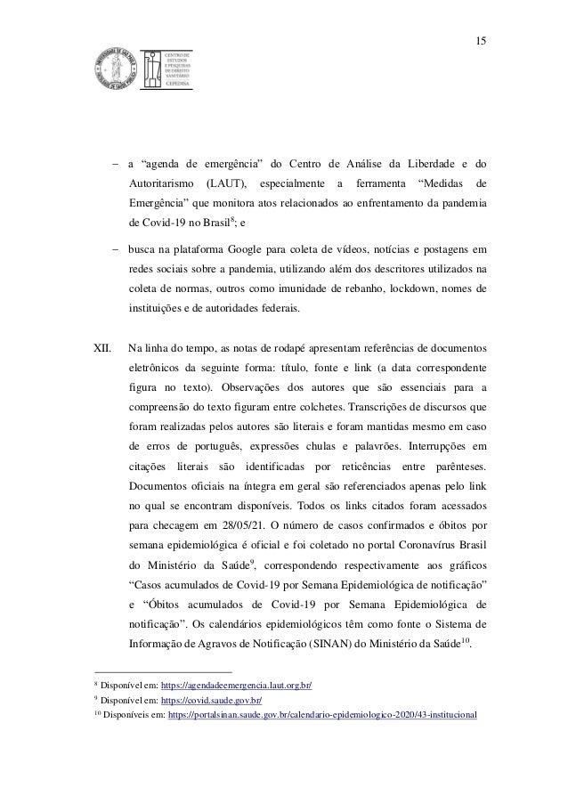 """15  a """"agenda de emergência"""" do Centro de Análise da Liberdade e do Autoritarismo (LAUT), especialmente a ferramenta """"Med..."""