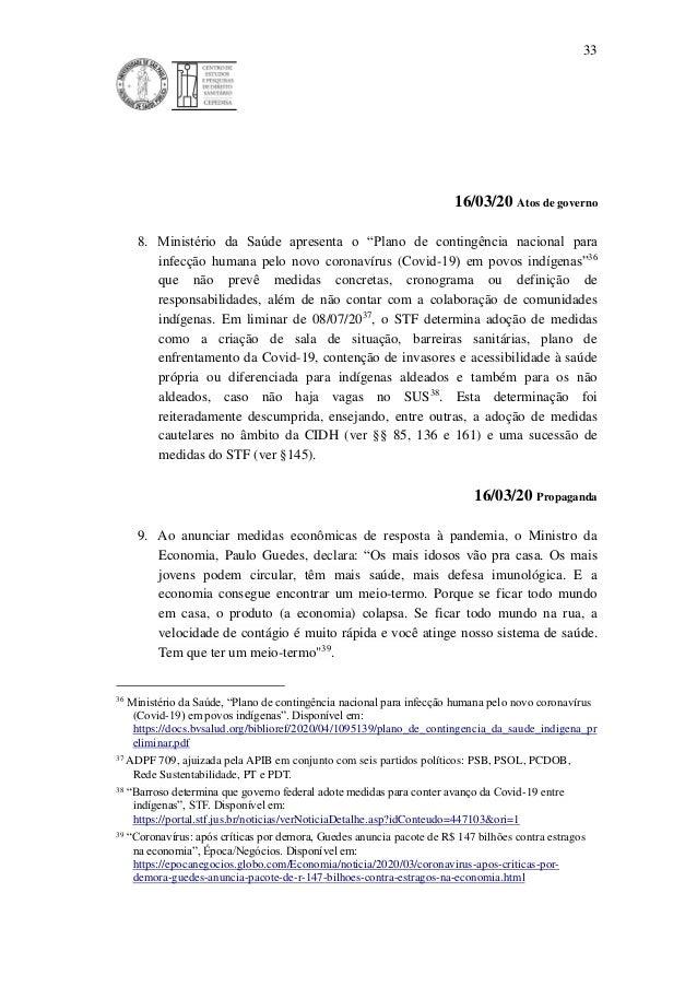 """33 16/03/20 Atos de governo 8. Ministério da Saúde apresenta o """"Plano de contingência nacional para infecção humana pelo n..."""