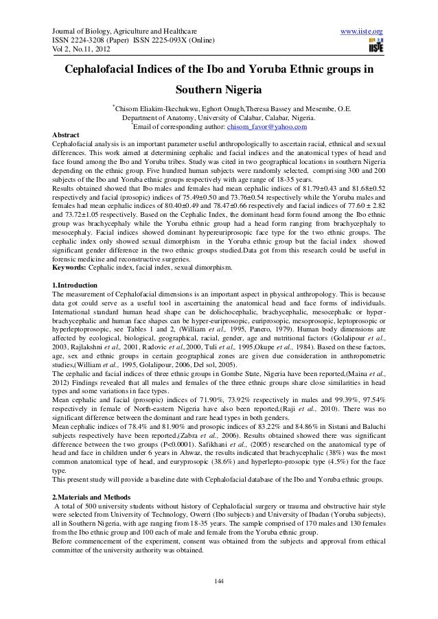 Journal of Biology, Agriculture and Healthcare                                                     www.iiste.orgISSN 2224-...