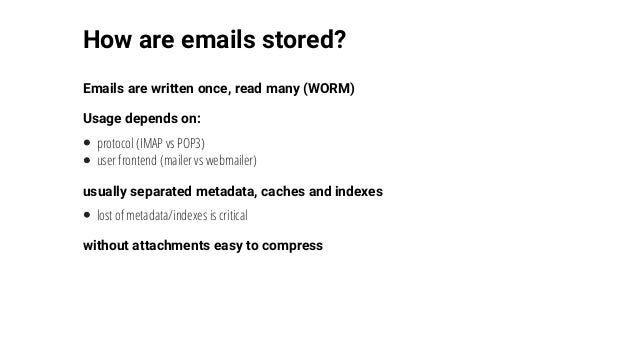 Email storage with Ceph