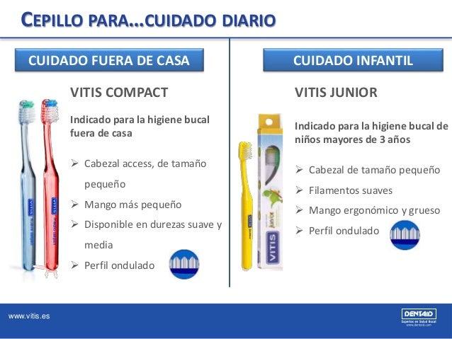 www.vitis.es CEPILLO PARA…CUIDADO DIARIO CUIDADO FUERA DE CASA VITIS COMPACT Indicado para la higiene bucal fuera de casa ...