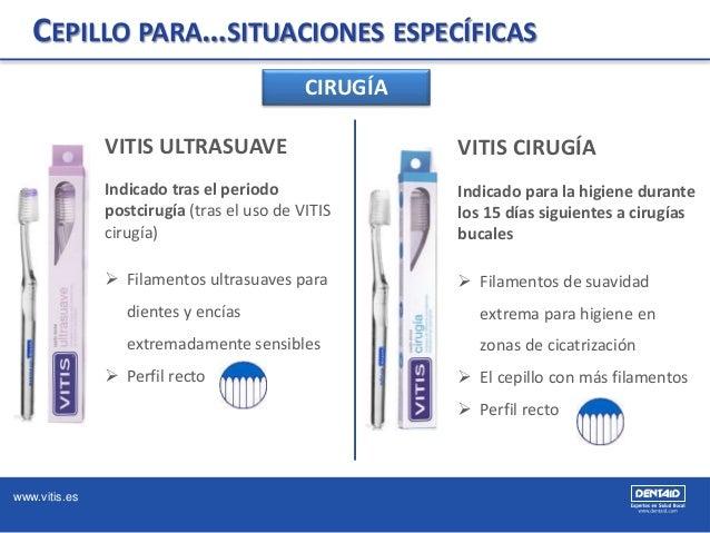 www.vitis.es CEPILLO PARA…SITUACIONES ESPECÍFICAS CIRUGÍA VITIS CIRUGÍA Indicado para la higiene durante los 15 días sigui...