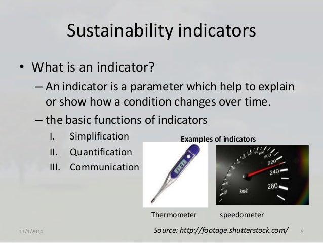 Sustainability Indicators Of Sustainable Develpment