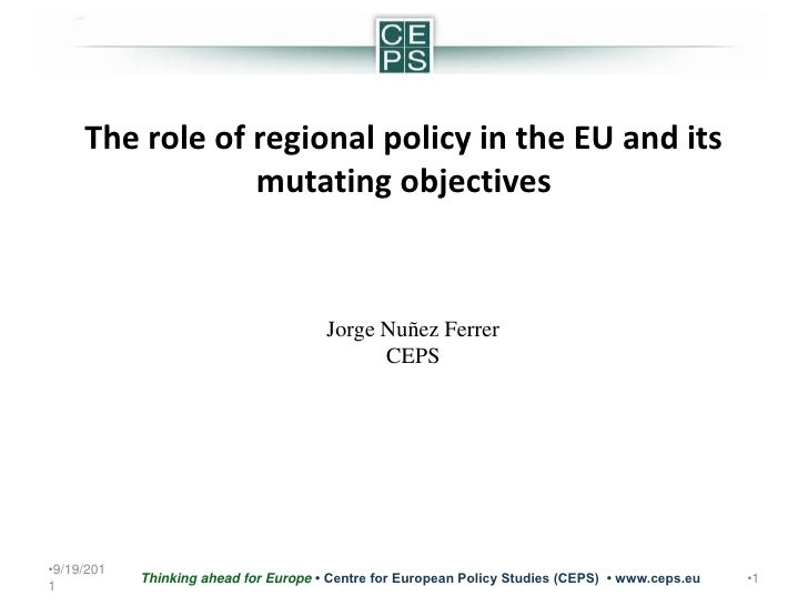 5/24/2011<br />1<br />Thinking ahead for Europe • Centre for European Policy Studies (CEPS)  • www.ceps.eu <br />The role ...