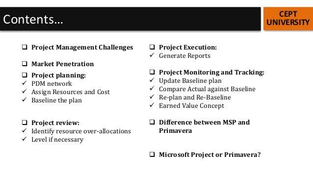 primavera vs ms project pdf