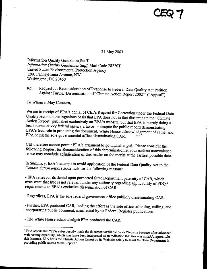 21 May 2003       Information Quality Guidelines.Staff      Information Quality Guidelines Staff, Mail Code 28220T      Un...
